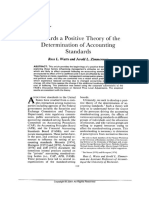 1978 Watts&Zimmerman [Towards a Positive Theory of the Determination of Accounting Standards]
