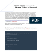 Blogger Widget Script