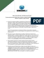 Declaración de Ecoceanos Frente a Comportamiento de Salmonera Marine Harvest (1)