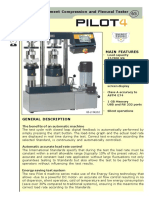 AUTOMATIC Cement Compression and Flexural Tester CONTROLS
