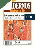 Cuadernos de Historia 16 105 Los Monasterios Medievales Mitre Emilio