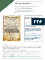 A La Ley y Al Testimonio - La Bendición y La Maldición