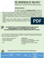 DECRETO DE URGENCIA N° 004-2017