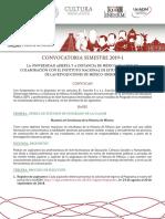Convocatoria MEHM 2019-1