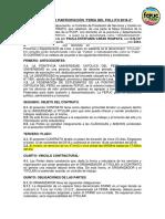 Contrato Para La Feria Del Pollito 2018-2