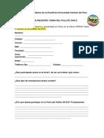 Registro Para La Feria Del Pollito 2018-2