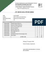 Kartu Rencana Studi (KRS) - Politeknik Negeri Malang krs.pdf