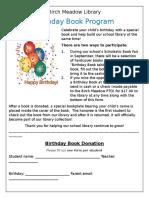 birthday book program