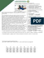 EVALUACION  DE LENGUA CASTELLANA 5°