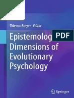 Thiemo Breyer (Eds.)-Epistemological Dimensions of Evolutionary Psychology-Springer-Verlag New York (2015)