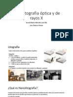 Nanolitografia Óptica y de Rayos X