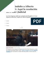 Anulan Indulto a Alberto Fujimori