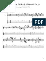 Sonata in Am (D14) 1 Allemande Largo by Silvius Leopold Weiss