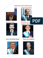 Presidentes de Corte Democatica