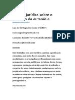 Análise Jurídica Sobre o Instituto Da Eutanásia
