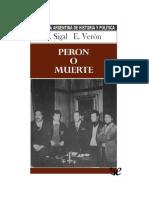 Sigal Silvia Y Veron Eliseo - Peron O Muerte