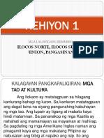 Rehiyon 1 Report