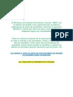 Modelo de Acta de Asamblea General