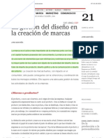 ELISAVA TdD | 21 | La gestión del diseño en la creación de marcas