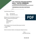 Surat Rekomendasi SIK