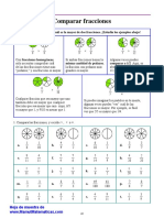 Fracciones1 Comparar Fracciones 1