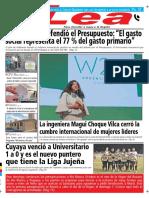 Periódico Lea Jueves 04 de Octubre Del 2018