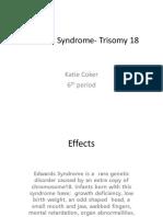 Edwards Syndrome- Trisomy 18.Ppt