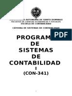 Programa de Sistemas de Contabilidad i (Con-341)