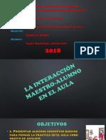 La Interacción Profe- Alumno Sociologia
