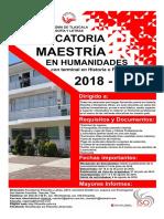 Convocatoria Maestría Humanidades