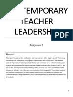 contemporary teacher leadership assignment 1