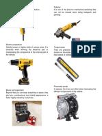 Herramientas de Mecanica en Ingles