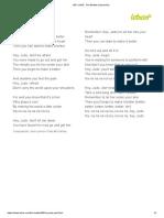 HEY JUDE - The Beatles (Impresión)