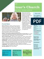 st saviours newsletter - 7 october 2018