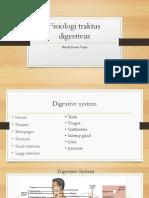 Fisiologi traktus digestivus