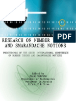 Proceedings of the Sixth International Conference on Number Theory and Smarandache Notions, edited by Zhang Wenpeng