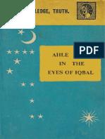 Ahle Bait in the Eyes of Iqbal