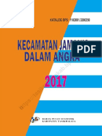 PETA Kecamatan Jamanis Dalam Angka 2017