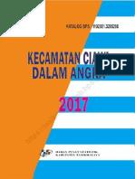 PETA Kecamatan Ciawi Dalam Angka 2017