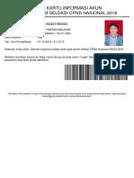 JEFRI Kartu Informasi Akun CPNS