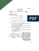 Compulsory Math 2073 Question Paper RE 109SP