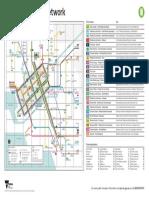 PTV Tram Network Map 2017