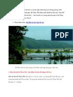 Thuyết minh về hồ Than Thở ở Đà Lạt
