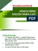 Bai Giang Hoach Dinh Nguon Nhan Luc