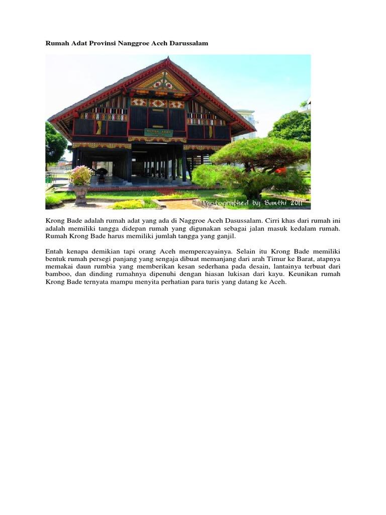 550+ Gambar Rumah Adat Provinsi Nanggroe Aceh Darussalam Gratis Terbaik