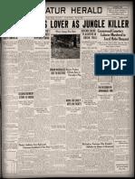 Decatur Herald May 23, 1930 Melvin Savage Murder.