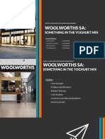 CASE STUDY OF WOOLWORTHS SA