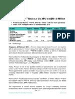 Procurri's FY2017 Revenue Up 34% to S$181.8 Million