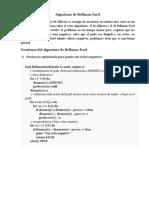 Algoritmo de Bellman Ford
