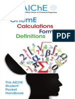 AlChE Calculations Forms and Definitions